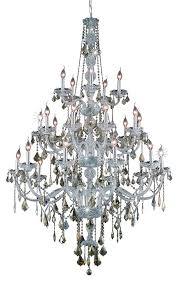 verona 25 light chrome chandelier golden teak smoky royal cut crystal