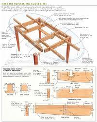 expanding table plans furniture plans