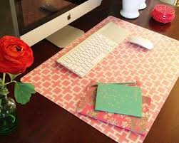 DIY Custom Desk Pad using Ikea PRJS clear desk pad, wrapping paper and  spray adhesive