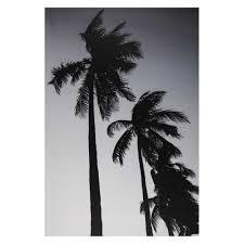 Toile Imprim E Palmier Noir Et Blanc 95x140cm Fortaleza Wishlist
