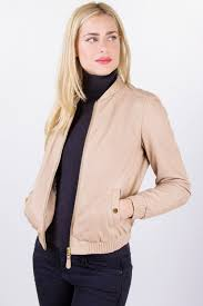 beige leather jacket with elasticated trim size m fit s leather outerwear clothing starbags products starbags gr