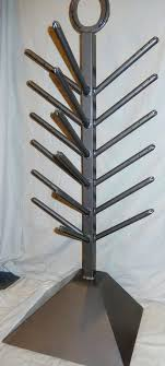 handcrafted wrought iron mitten glove boot hat dryer stand drying rack wooden tree