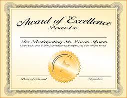 Award Certificate 24 Award Certificates Template Job Resumes Word 22