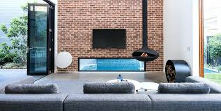 suspended fireplaces hanging