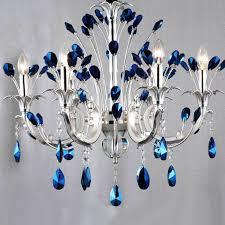 modern peacock blue crystal chandelier 9989