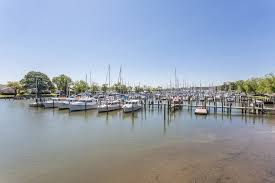 boats docked at marina in deale md
