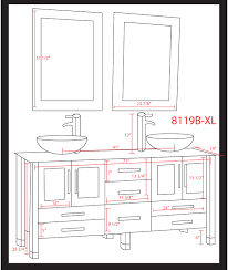 captivating bathroom vanity dimensions with cabinet