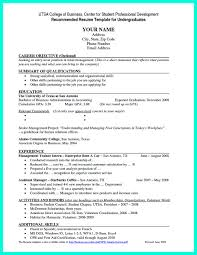 College Resumes Template 65 Images Resume Samples For