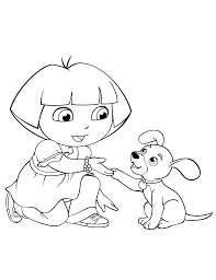 Easy Dora Coloring Pages Printable Coloring Page For Kids