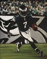 michael vick wallpaper. acrylic painting - philadelphia eagles michael vick by kim selig wallpaper s