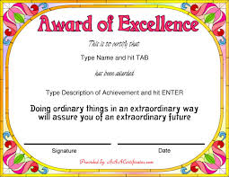 Award Templates Free Sample Award Certificate Templates Fresh Gift Certificate Free 19