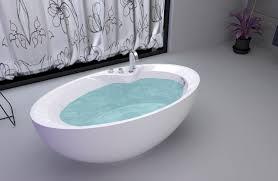 luxury freestanding soaking bathtub with overflow ideas