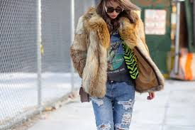 how to wear a fur coat without looking over the top