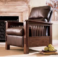 Mission Style Living Room Furniture High Leg Recliner Living Room Furniture Page1