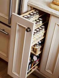 Maybe for the space beside the stove. Make a drawer dedicated to spice  organization // Storage Solutions