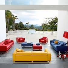 colorful modern furniture. Brilliant Modern The Red Couch And Chairs Blue Couch Yellow Give This Space A  Triadic Color Scheme Intended Colorful Modern Furniture Pinterest