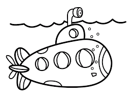 Submarine Coloring Pages Printable High Quality