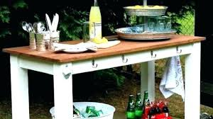 retaurant patio serving cart plans
