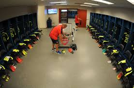 carson ca july 31 kit man vic akers in the nal changing room