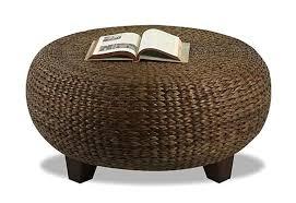 wicker ottoman coffee table brilliant square rattan round woven inside 10