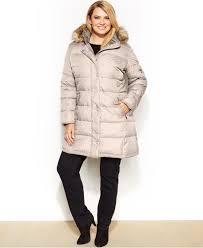 jones new york tiered faux fur hooded coat vinted com
