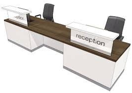 evo class two person straight recption desk