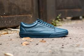navy leather vans