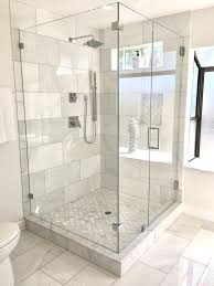 extraordinary starfire glass shower door custom with panels installed channel on granite curb this starphire cost