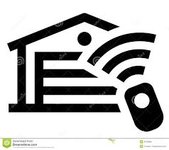 garage remote control icon stock vector