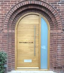 arched front doorarched contemporary oak door  Porch  Pinterest  Oak doors
