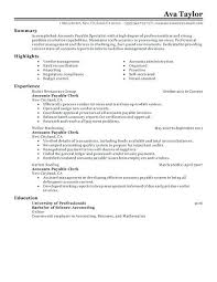 Accounts Receivable Specialist Resumes Accounts Receivable Specialist Resume Accounts Payable Specialist