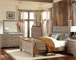 Oak Bedroom Sets Furniture Furniture Stonehill Poster Bedroom Set In Weathered Oak