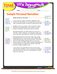 Video example and Personal Narrative Essay Sample | Dream Job ...