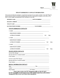 template for emergency contact information 50 printable emergency contact form templates fillable