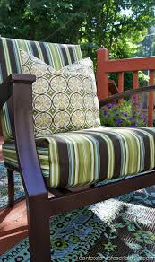 update your outdoor cushion covers with this sew super easy cover tutorial from confessions of plastic