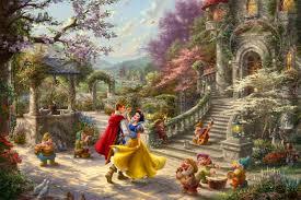 Schmidt disney premium thomas kinkade puzzle. Snow White Dancing In The Sunlight Thomas Kinkade Studios