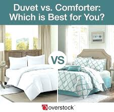 comforters and duvet covers difference