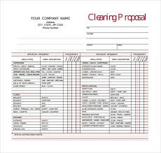Cleaning Proposal Template 6 Cleaning Proposal Templates Proposal Templates Pro