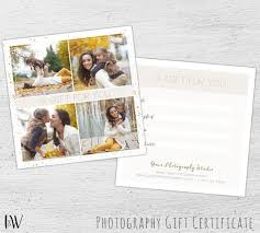 Photography Gift Certificate Template Photoshop Template For