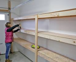 diy garage storage shelves wooden
