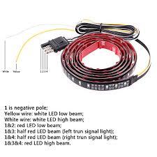 sunsbell 49″ 72 smd redwhite tailgate led strip light bar flexible sunsbell 49 72 smd redwhite tailgate led strip