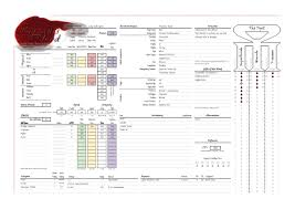 hero forge character sheet sneak peak at the character sheet servants of the blood