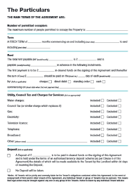 Tenancy Agreement Template Free Download Pdf - April.onthemarch.co