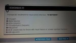 "O BATMAN"" tx for MI | Beta blockers, Nursing school, Therapeutic"