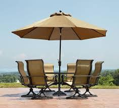 umbrella patio table