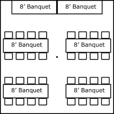 banquet table layout generator 20 x 20 w banquet tables buffet super stuff party rental