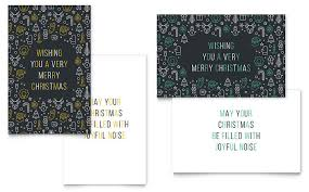 Christmas Wishes Greeting Card Template Design