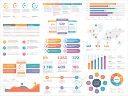 Presentation Template Design Business Data Graphs Vector Financial