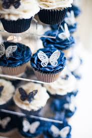 7 Navy Blue And White Cupcakes Photo Navy And White Cupcakes Navy