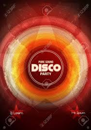 Flyer Background Template Disco Party Flyer Background Template Vector Illustration Royalty 14